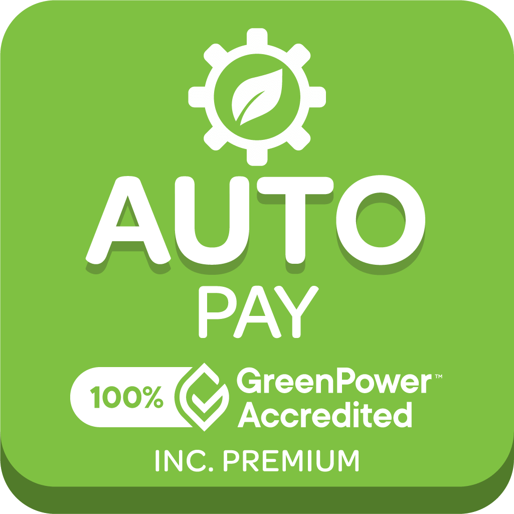 Graphic of GreenPower accredited Autopay pack