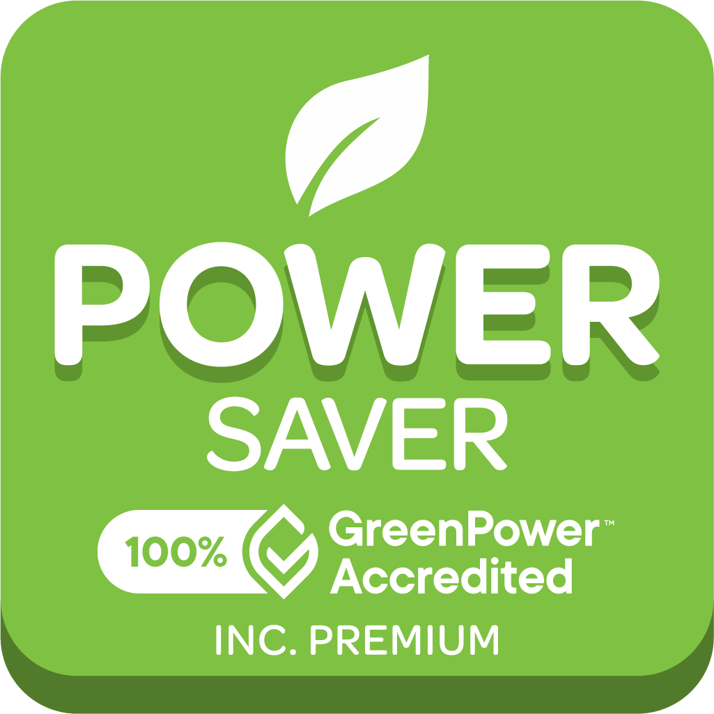 Graphic of GreenPower accredited Powersaver pack