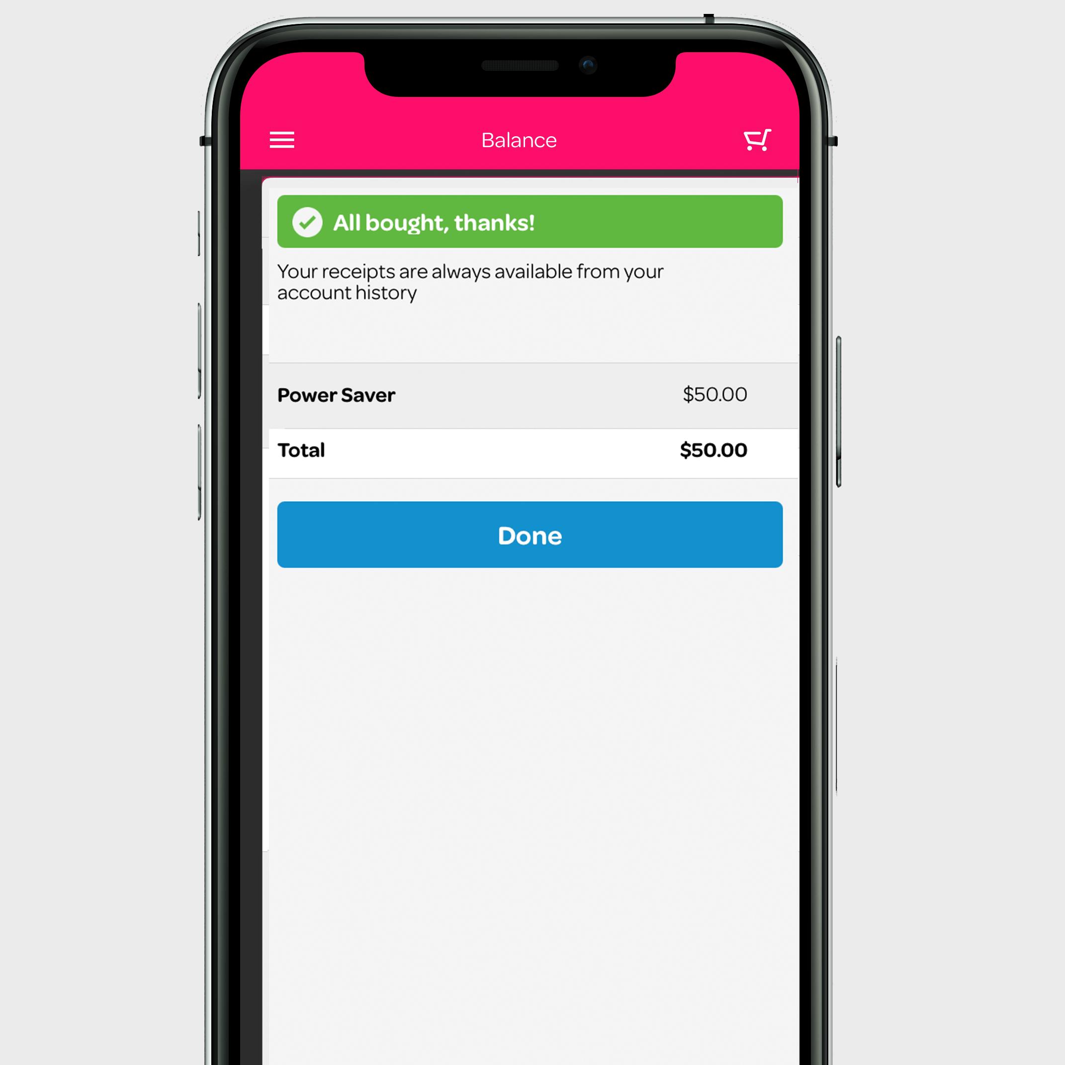 image of the Powershop app