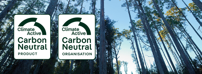 Trees with the Climate Active Carbon Neutral Standard carbon neutral certifications