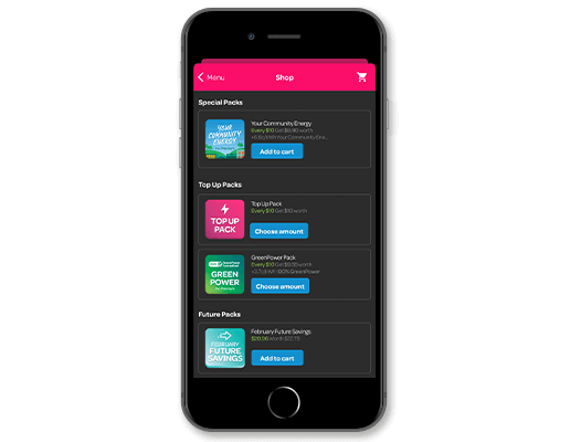 Powershop mobile electricity consumption app to track your usage animated gif