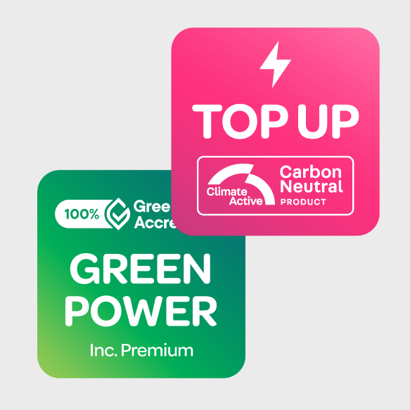 Graphic of the Top up tile and GreenPower tile
